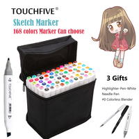 TouchFIVE 80 168 Colors Art Marker Pen Alcohol Markers Touch Sketch Drawing Pen For Drawing Manga