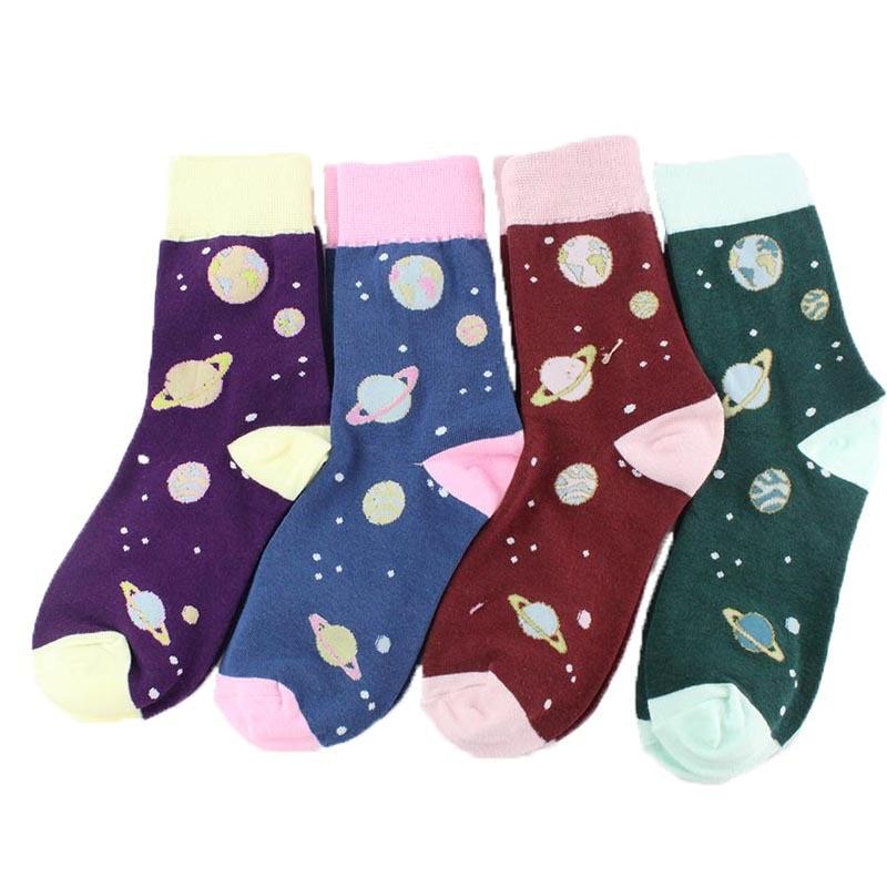 Adult Size Universe Socks Galaxy Nebula Comet Stars Solar Planets Sox Mercury Venus Earth Mars Jupiter Saturn Uranus Neptune Sun
