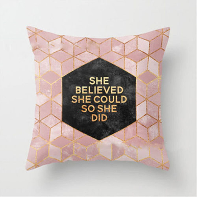 Home Decor Gift Shining Printed Throw Pillow Case Sofa Cushion Cover 45x45cm J2Y