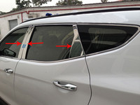High quality stainless steel window trim cover(a Set of 6pcs) For 2013 2014 2015 2016 2017 Hyundai Santa Fe ix45