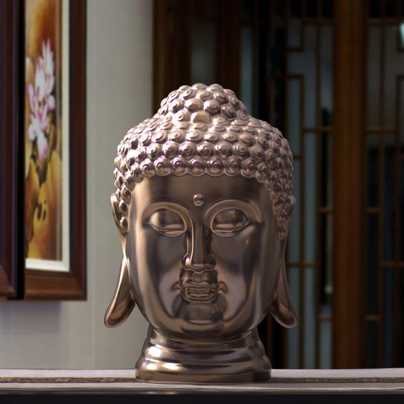 40 см Большой Размеры статуя Будды Керамика Шакьямуни, татхагата Статуэтка фарфоровая Индия статуя головы Будды Ремесла декоративные