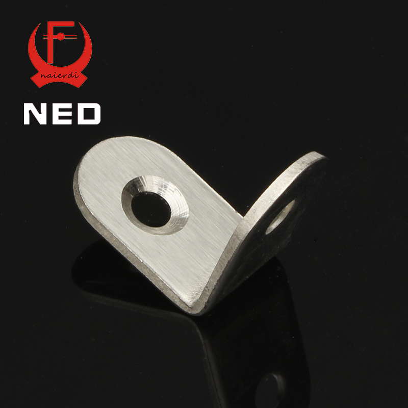 NED 25x25x16mm Practical Stainless Steel Corner Brackets Joint Fastening Right Angle 2MM Thickened Home Brackets With Screws hamlet ned r