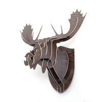 Big Horn Deer Wood Animals Wall Hanging Home Decorative Wall DecorBOT03