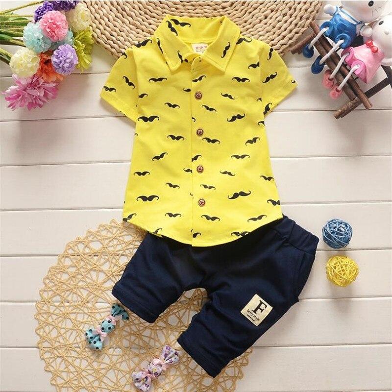 summer baby boys clothing set toddler children sport suit gentleman tracksuit kids