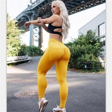 Knit Cotton Blended Leggings US Lady casual sports GYM High waist Elastic slim pants Pockets patchwork Spring Autumn running