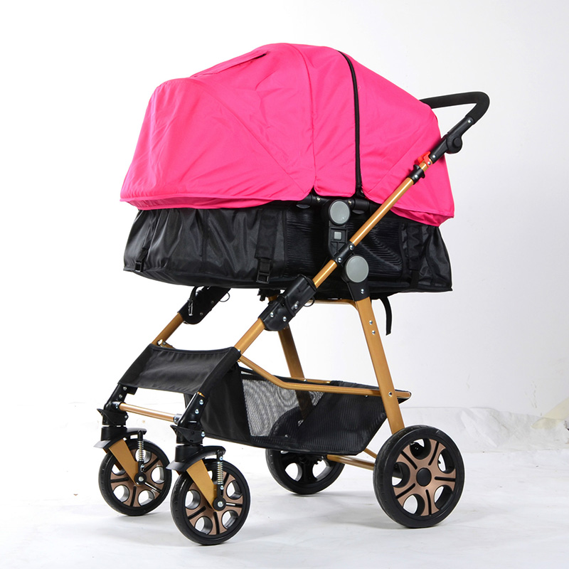 Hot Sale Baby Strollers Infant Adjustable Full Sun Shade Baby Sleeping Pushchair Carriage Basket Foldable Pram