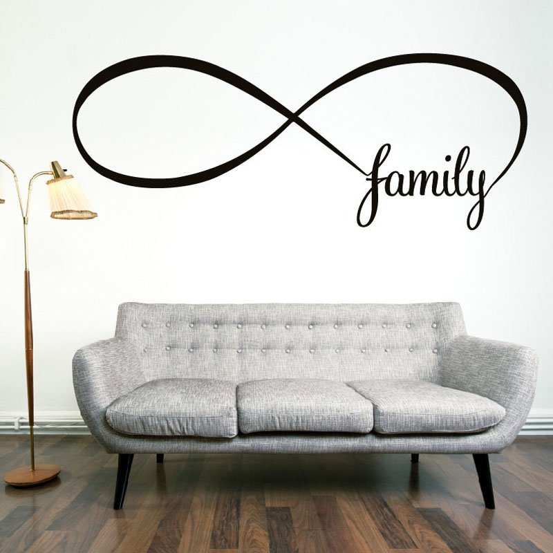 Simple Design Family Wall Decals Removable Vinyl Stickers Home Decor Living Room Wall Stickers Bedroom