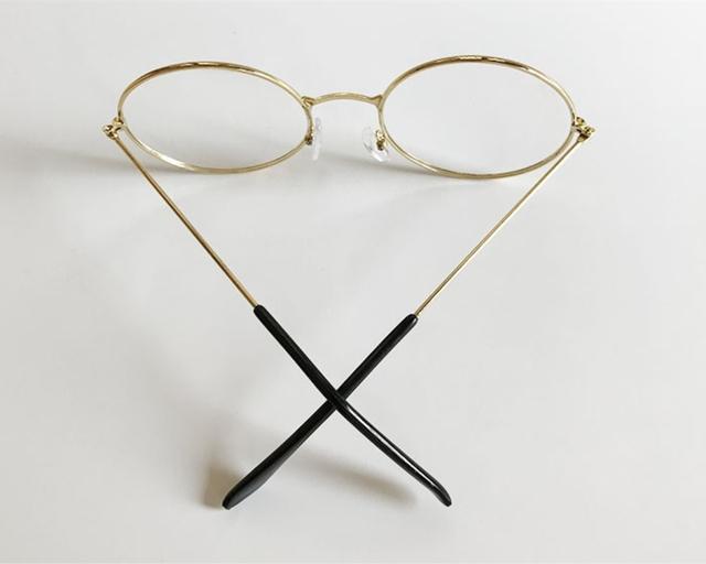 Retro Round Transparent Metal Glasses
