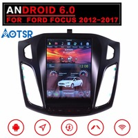 Tesla style Android6.0 Big Screen Car No DVD Player GPS Navigation For Ford Focus 2012 2017 Auto navi stereo headunit multimedia