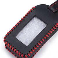 Starline E60 E90 Hand Genäht Leder Schlüssel Abdeckung Fällen Für StarLine E90 E60 E63 E93 E95 E66 E96 LCD Fernbedienung controller Sender