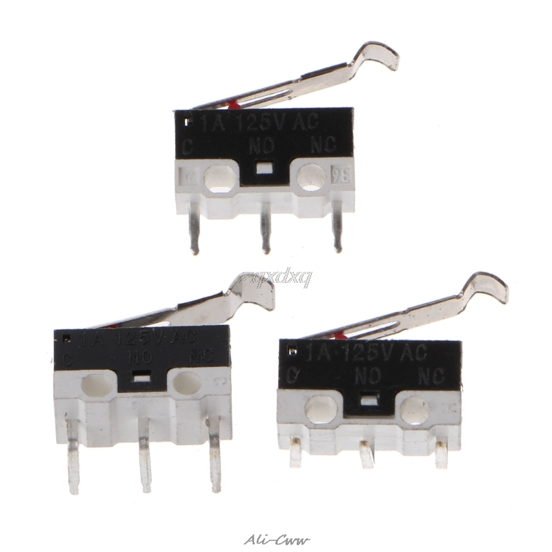 3D Printer Mechanical Limit Switch 10pcs/lot 1A/125VAC Endstop Micro Switch For Prusa I3 Delta Kossel Makerbot Printer AUG26