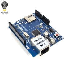 UNO Щит Ethernet Shield W5100 R3 UNO Mega 2560 1280 328 УНР R3 только W5100 Развития борту ДЛЯ Arduino