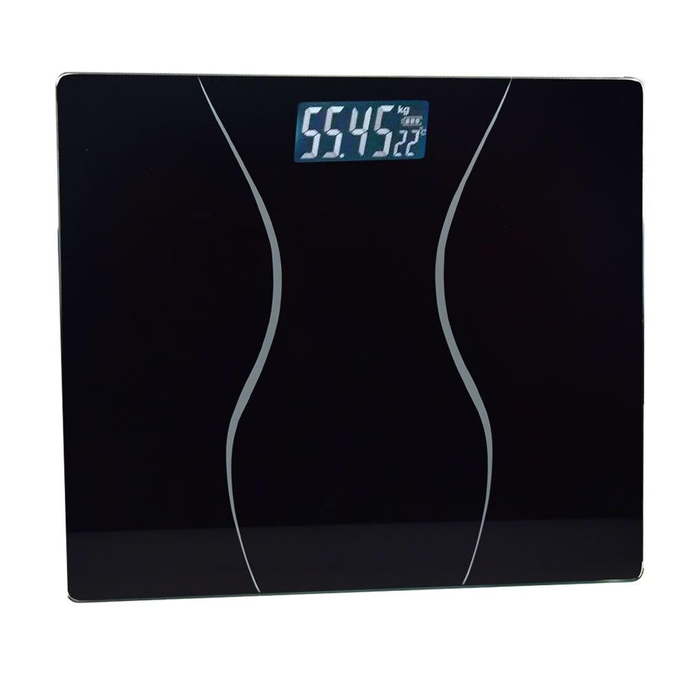 1pcs Telman Bathroom Glass Body Scale 0.01g Smart Household Electronic LCD Display Digital Floor Weight Balance Weighing 180 KG