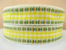 5yds per roll 1 25mm plaid scottish printed polyester ribbon 5 yards DIY handmade materials