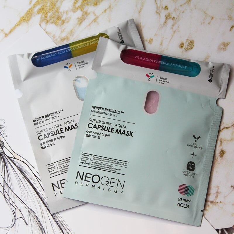 Neogen Super Shiny/hydra Aqua Capsule Mask 5pcs for Sensitive Skin K-beauty guerlain super aqua mask увлажняющие маски в саше super aqua mask увлажняющие маски в саше