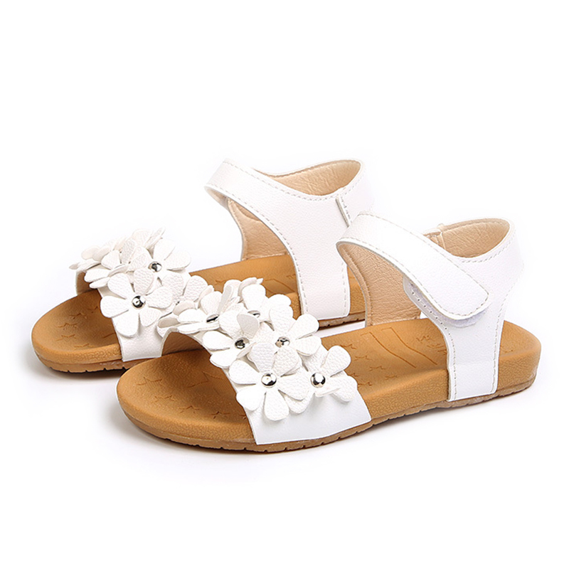 Baby summer shoes girl sandals young childrens clothing flowers beach sandals girls size 21-30 baby soft soled shoes