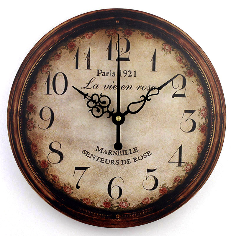 Vintage Large Decorative Wall Clock Home Decor Shabby Chic