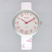 Marcas de cuero kezzi niños lindo pentagrama moda casual reloj analógico relojes niños relojes de pulsera de cuarzo relogio niños niñas de colores k1494
