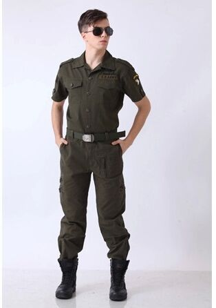 us army military uniform for font b men b font 101st Airborne Division outdoor summer leisure