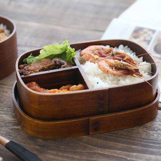 Bento en bois Style japonais 1