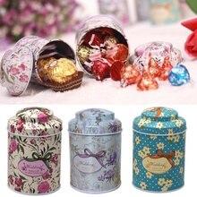 Маленькие цилиндрические коробки для хранения чая, зубочистки, жестяные банки
