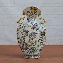 Tao Caicai European Royal Porcelain Vase Home Furnishing retro crack decoration
