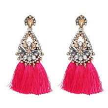 2017 Fashion Charm Jewelry Crystal Earrings Water Drop Flower Earrings tassel earrings punk earrings for women E879-E883
