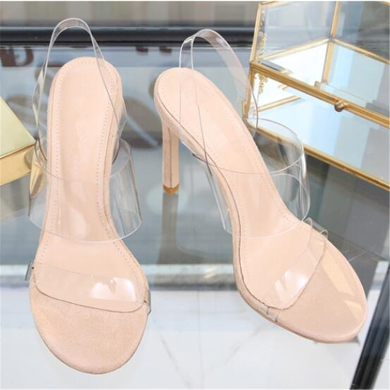 c 5cm Vin Haute d Chaussures Height D'été Height Noir b Eunice Abricot 2018 Talons Mince Height Transparent Heel Femmes Choo Rouge Sandales Pvc Height customized A 10 Femme PUqEgwx