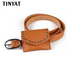 Здесь можно купить  TINYAT Women Waist Bag High Quality PU Leather Belt Bag For Women Female Newest Fanny Pack Bags Girl Fashion Coin Purse Pack 71  Waist Packs