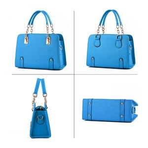 Image 4 - Wobag женские сумки на плечо, женская сумочка из искусственной кожи, сумка для женщин, роскошные сумки, дизайнерская сумка тоут, темно синяя/розовая