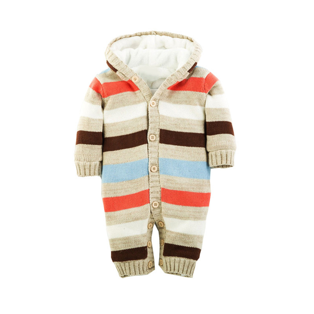 Winter Coveralls For Newborns Baby Knitted Romper One-piece Baby Long Sleeve Climb Costume Unisex Multi-color Sweaters CL0492