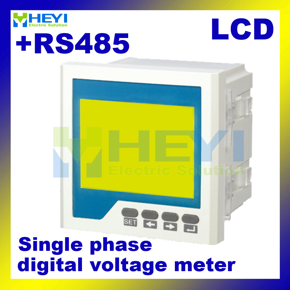 все цены на  LCD digital voltage meter with RS485 communication HY-AV ac dc digital volt meter Class 0.5 voltmeter digital meter suppliers  онлайн