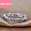PJR013 FreeShipping 925 silver ring . simp;e ring with stone elegant jewerly. Chic Design rings for woman
