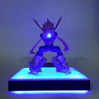 Dragon Ball Z Vegeta DIY Night Lamp Super Saiyan DBZ Vegeta Figurine LED Table Lamp for Children Bedroom Home Decoration