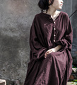 Vintage lantern sleeve loose cotton and linen dress For women 2017 new spring dresses female maxi long vestiods big size sp38