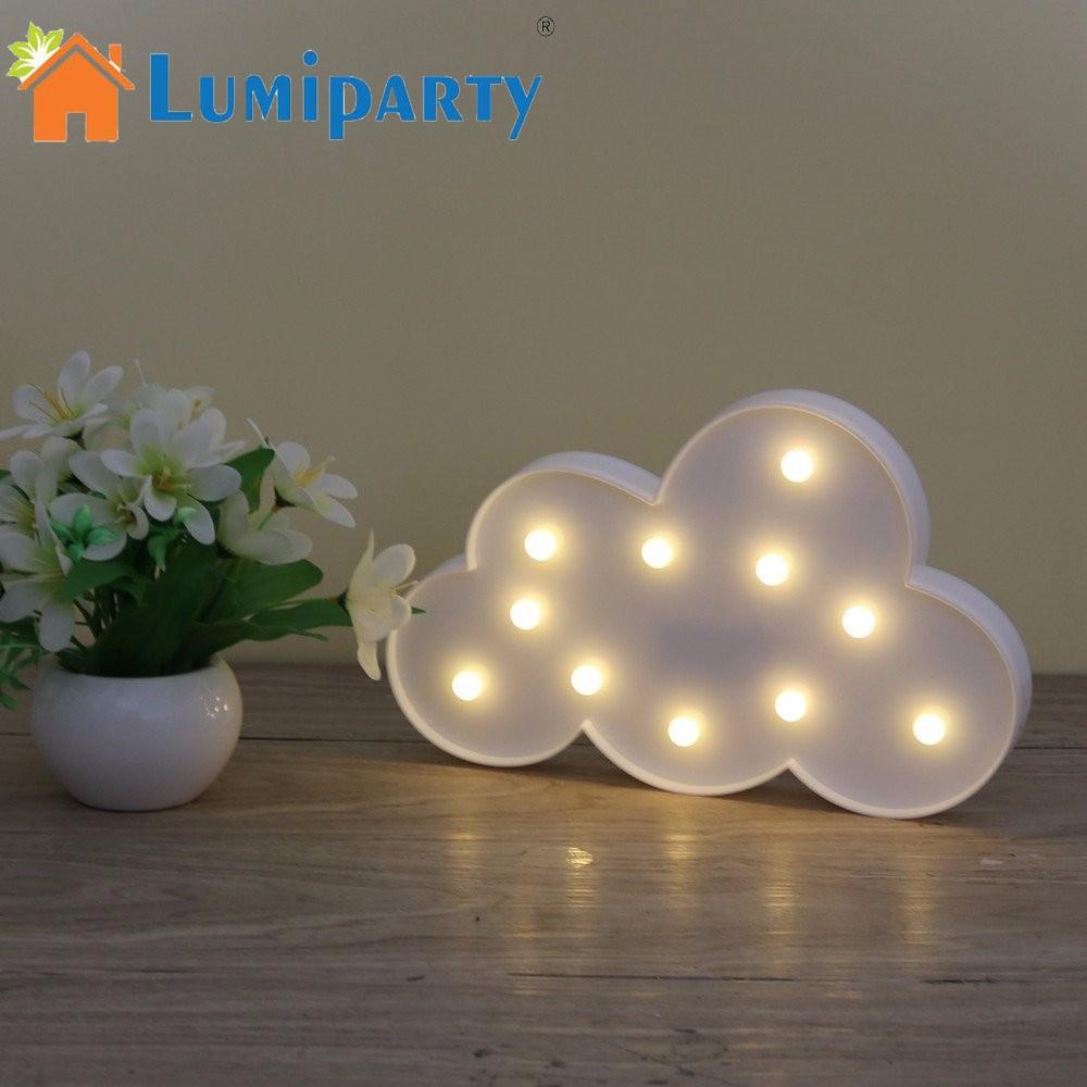 3D Festzelt Wolke Nacht Lampe mit 11LED Batterie betrieben Weiß Cloud Brief licht Für Weihnachten Dekoration kinder Geschenk