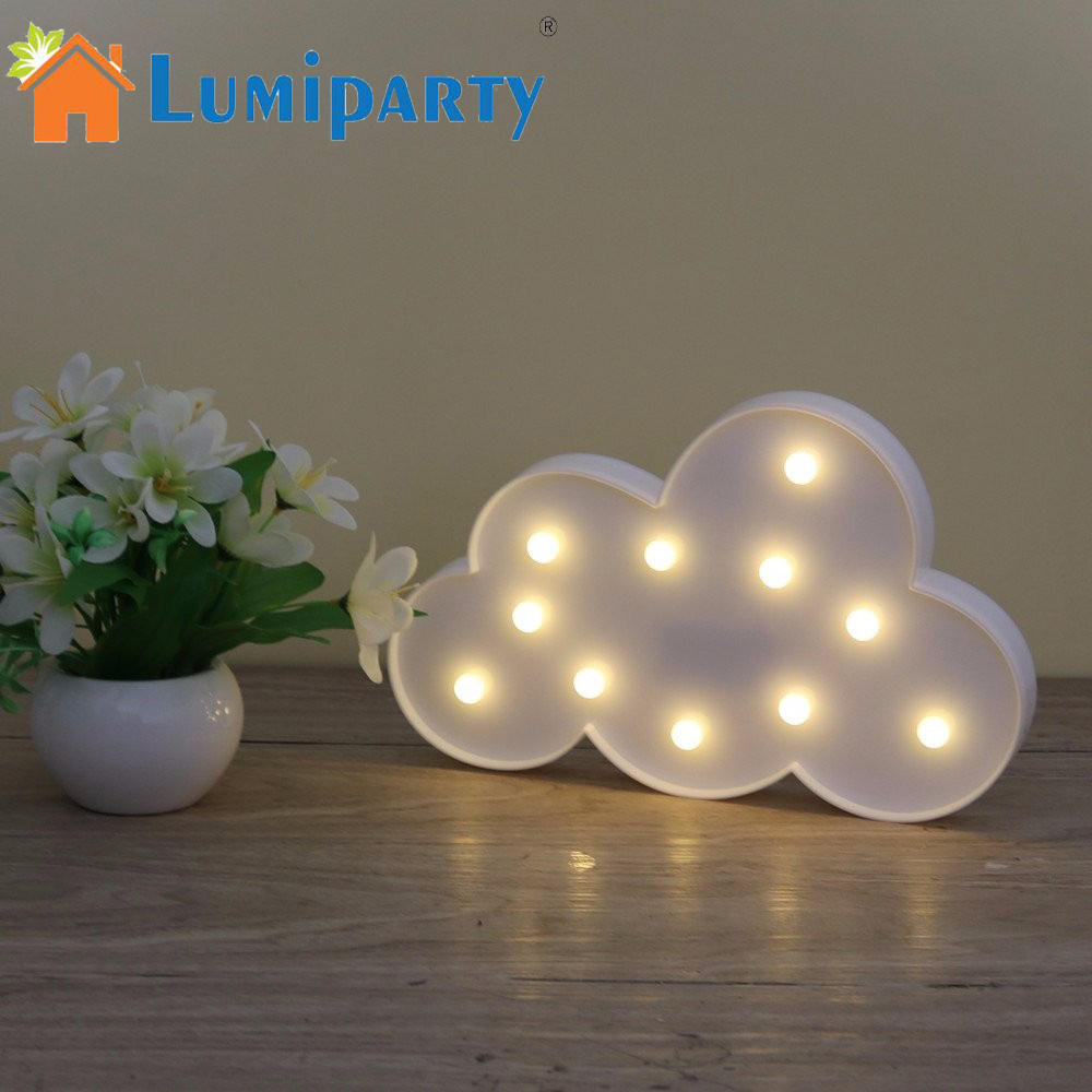 Online Shop 3D Marquee Cloud Night Lamp with 11LED Battery ...