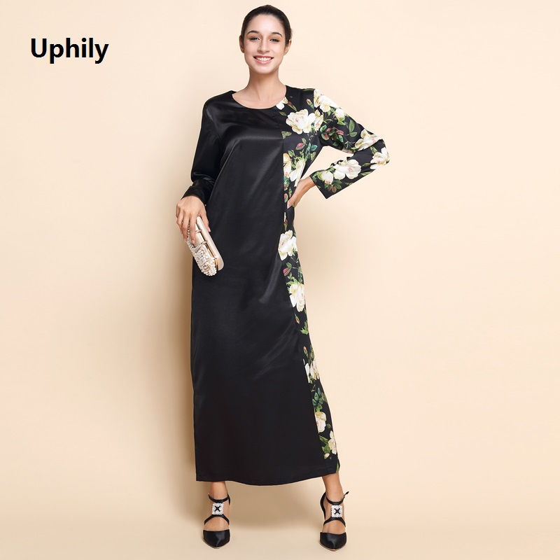 2018 Hot Black Abaya Dress Clothing Muslim Long Sleeve Vestidos