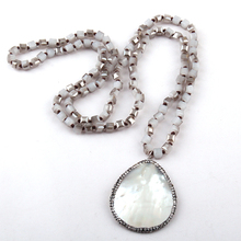 Buy soldered pendants and get free shipping on aliexpress moodpc fashion rustic soldered artisan jewelry square crystal glass beads knotted with shellcrystal tassel aloadofball Image collections
