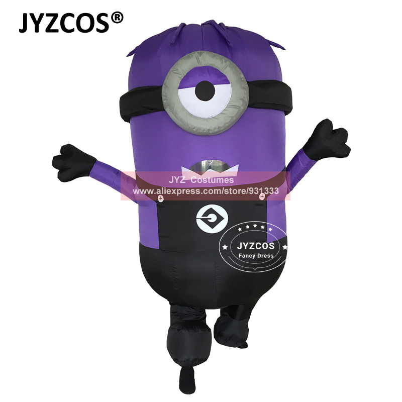 JYZCOS Inflatable Minion Halloween Costumes for Adult Despicable Me 2 Anime Cosplay Blow Up Mascot Purim Fancy Dress Cartoon (1)
