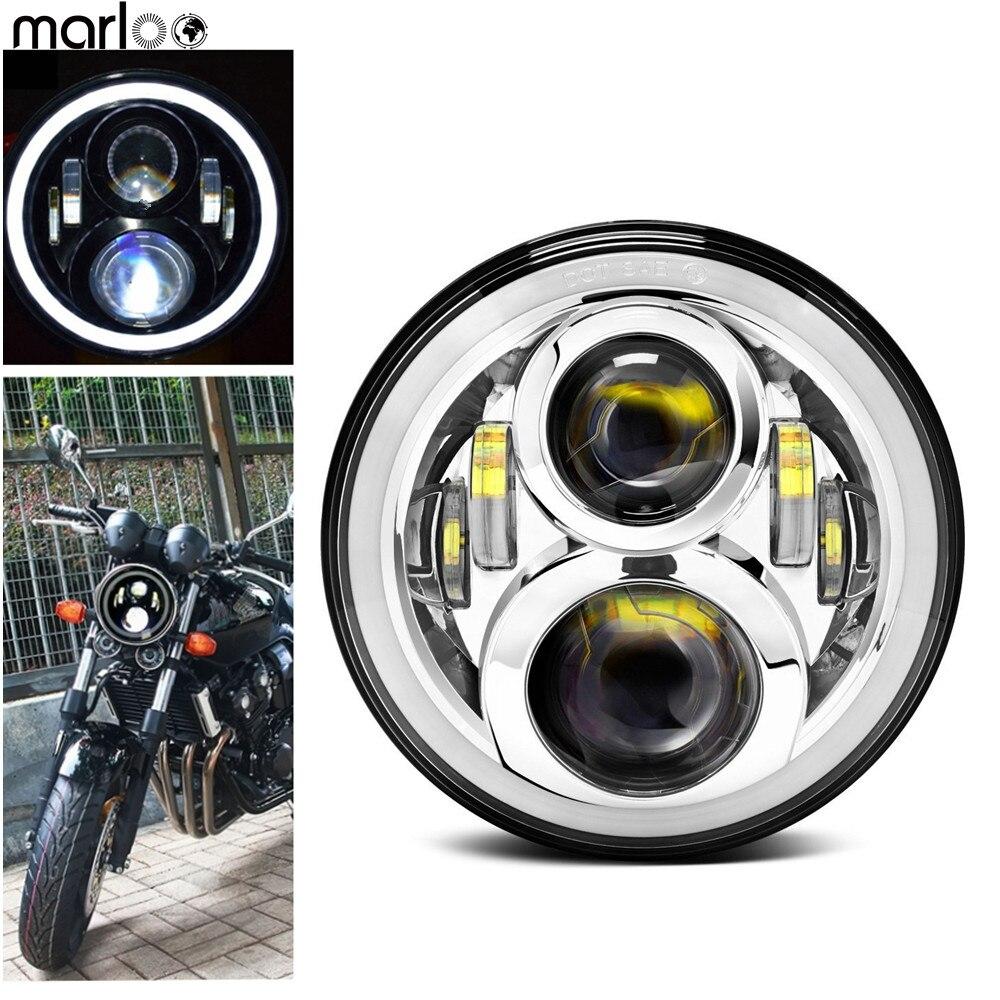 Здесь продается  Marloo Motorcycle Headlight Led White DRL For Honda CB400 CB500 CB1300 Hornet 250 600 900 VTEC400 VTR250 CB250 Refit Round Light  Автомобили и Мотоциклы