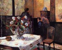 Fine art modern Interior Of The Painters House Rue Carcel by Paul Gauguin paintings Hand painted High quality