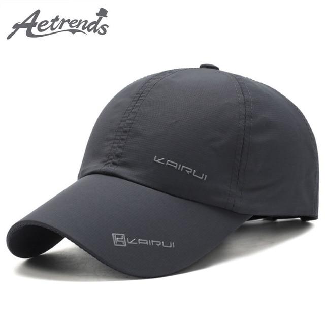 b45981ffc29  AETRENDS  Summer Cap Men 2018 Baseball Cap with Mesh Hat Sport Mens Hats  and Caps Branded Masculine Bones Trucker Bone Z-6471