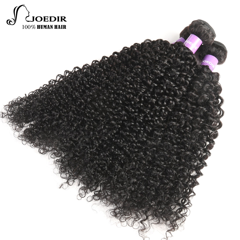 Joedir Hair Brazilian Human Hair 3 Bundles Deals Non Remy Kinky Curly Hair Extension Cheap Curly Weave Human Hair Free Shipping