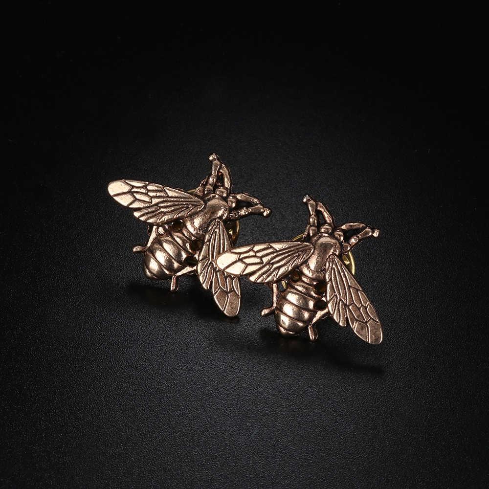 1PC Vintage דבורת מתכת סיכות חרקים סיכת פין נשים & גברים תכשיטי חמוד קטן הדבורה תגי אופנה בד Decors אבזרים