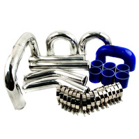 600x300x76 Intercooler+3.0 76mm Turbo Piping Pipe Kit For Integra Blue