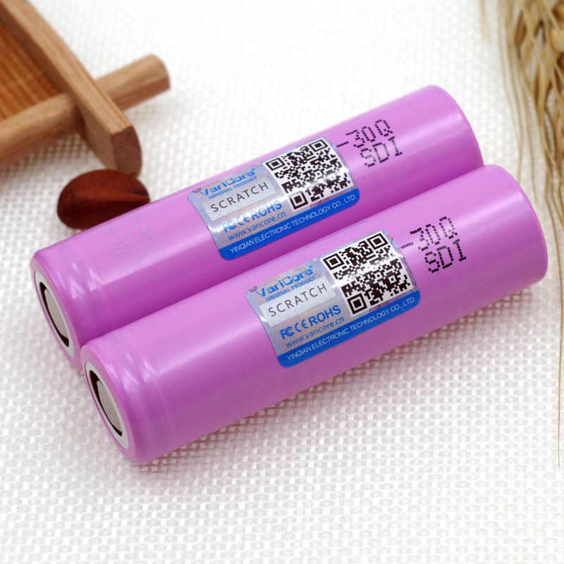 2 ピース VariCore 100% オリジナルブランド新 INR18650 30Q 充電式バッテリー 3000 mah リチウム経度電池電子タバコ使用
