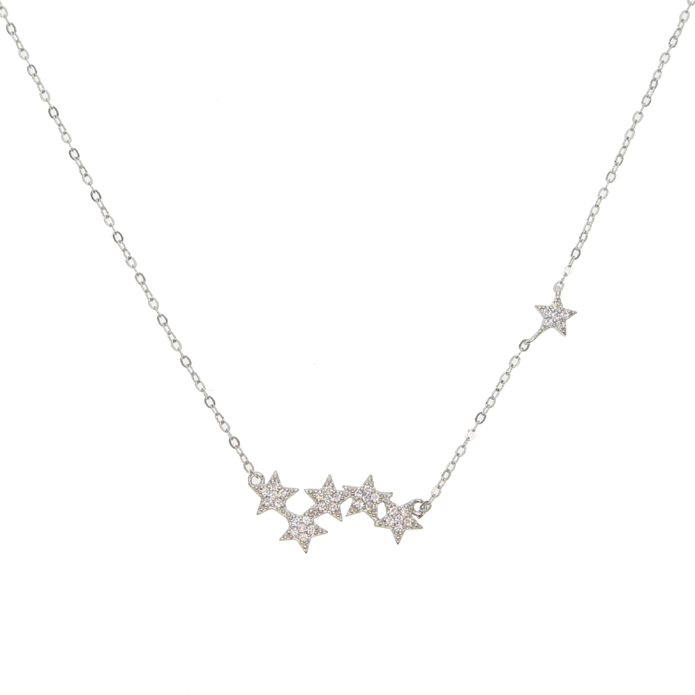 2018 Simple 925 sterling silver Chain Choker Necklace star charm Chocker Necklaces For Women collar collier ras du cou
