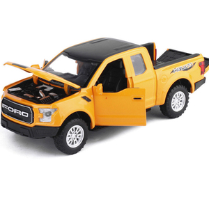 Image 4 - 1:32 F150 Pick up Truck Alloy Car Model Metal Diecasts Toy Vehicles Pull Back Flashing Sound For Kids Toy Free Shipping