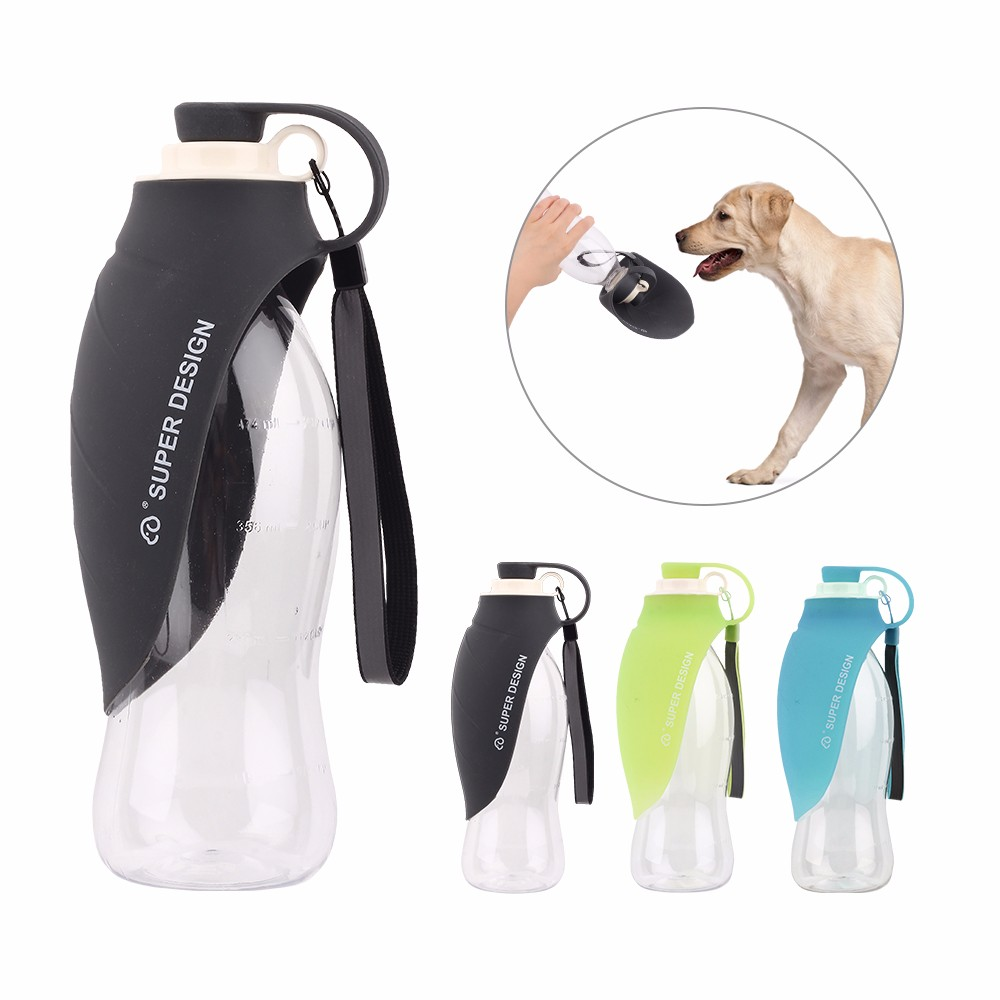 Sport Portable Pet Dog Water Bottle Expandable Silicone Travel Dogs Bowl For Puppy Cat Drinking Outdoor Travel Dispenser 650ML